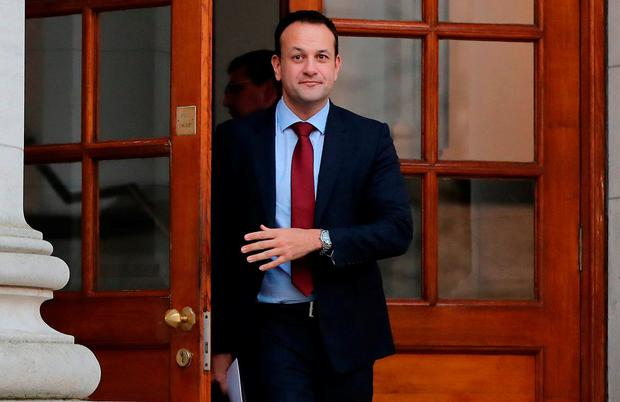 Taoiseach Leo Varadkar arrives to address the media after the first Cabinet meeting of the New Year at Government Buildings, Dublin. Photo: Niall Carson/PA