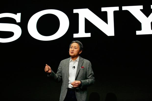 Kazuo Hirai, president and CEO of Sony, speaks during a Sony news conference at CES International, Monday, January 8, 2018, in Las Vegas. Photo: AP