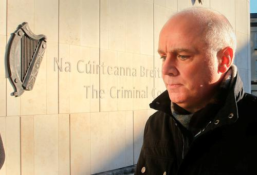 Former Anglo Irish Bank chief executive David Drumm arrives at the Courts of Criminal Justice. Photo: Gerry Mooney