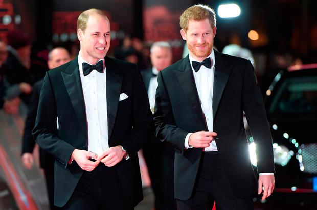 Britain's Prince William and Prince Harry