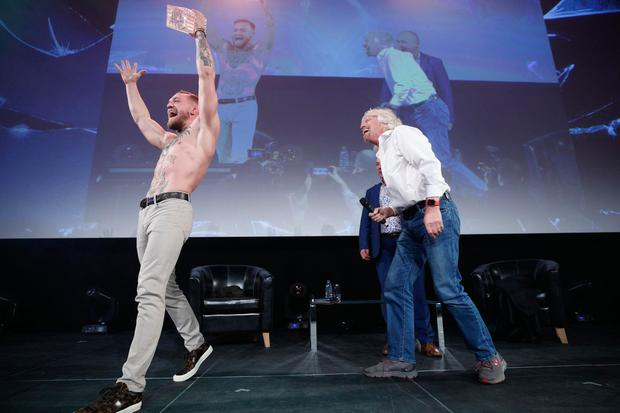 Conor McGregor with Pendulum Summit 2018 keynote speaker Sir Richard Branson