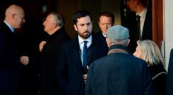 Minister Eoghan Murphy T.D. attending the Carnegie Funeral home for the reposing of Peter Sutherland. Monkstown, Dublin. Photo: Caroline Quinn