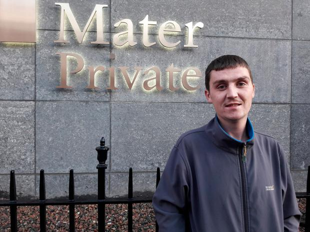 David O'Brien outside the Mater Hospital