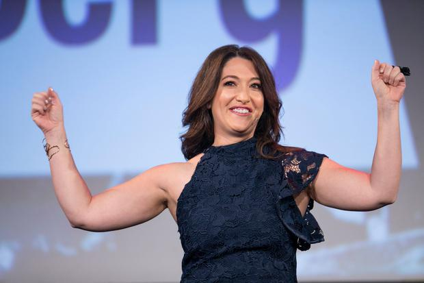 Randi Zuckerberg speaking at the Pendulum Summit 2018 at the Convention Centre in Dublin
