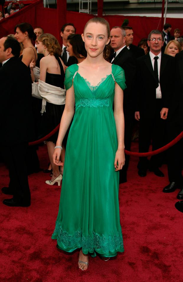 eb651f8939f53 Saoirse Ronan arrives at the 80th Annual Academy Awards held at the Kodak  Theatre on February