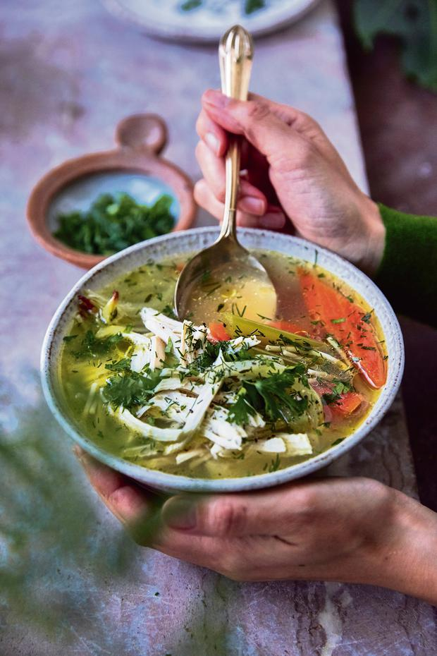 Chicken soup for the soul from Jasmine Hemsley's East by West