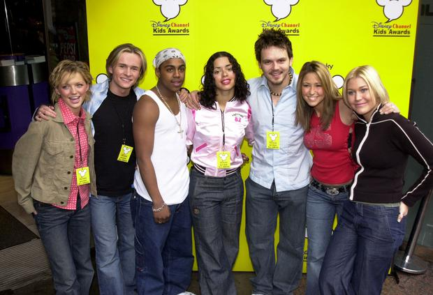 British Pop Band S Club 7 pose for before performing at the Disney Channel Kids awards launch April 24, 2001 in London's Leicester Square Sound Cafe. (Photo Anthony Harvey/Newsmakers)