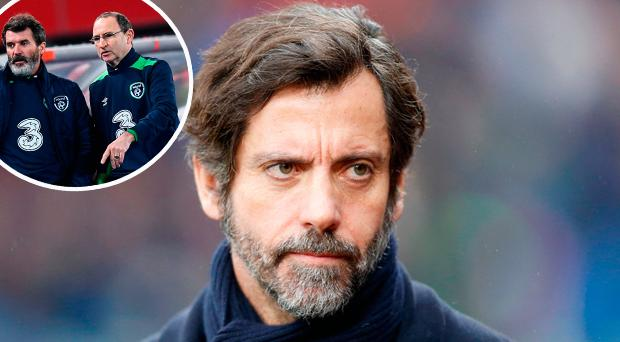 Quique Sanchez Flores and (inset) Martin O'Neill and Roy Keane