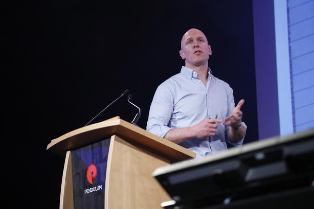 Paul O'Connell on the main stage at Pendulum Summit 2018
