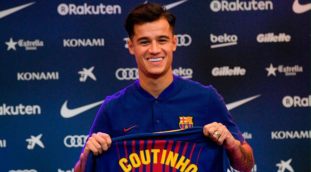 Windfall: Philippe Coutinho became the world's second most expensive player when he moved from Liverpool to Barcelona for €160m last week