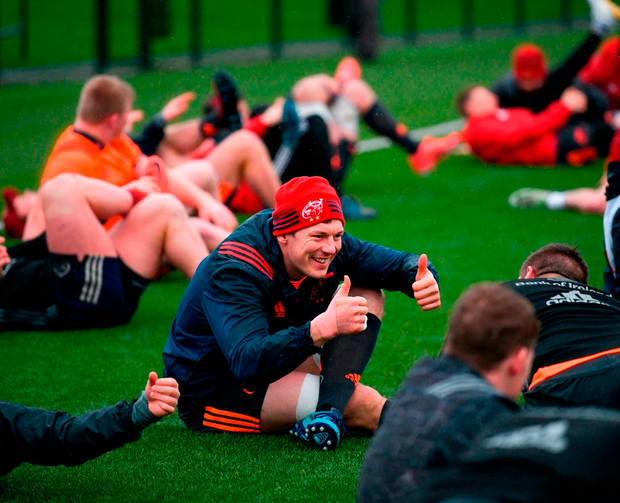 Copeland is all smiles at training. Photo: Diarmuid Greene/Sportsfile