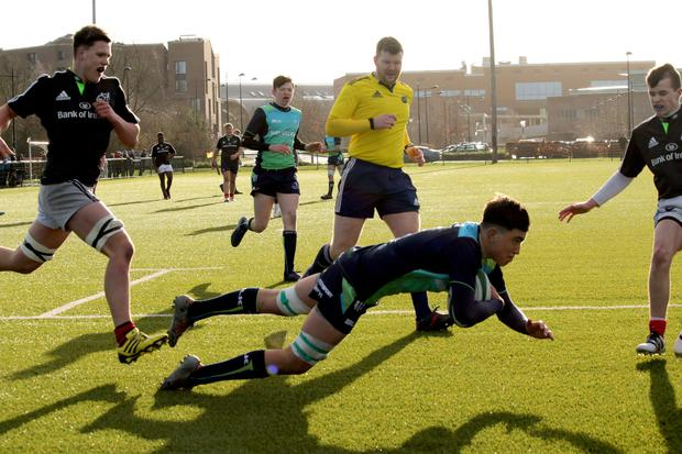 Connacht's U-17s in action against Munster