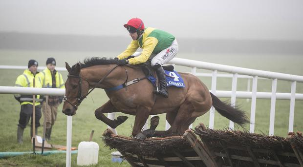 Beyond The Law and Robbie Power on their way to victory at Clonmel. Photo: Patrick McCann/Racing Post