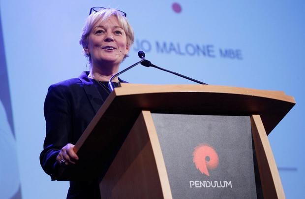 Jo Malone MBE on the main stage at Pendulum Summit 2018. Photo: Conor McCabe