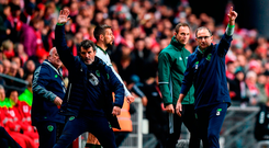 The future of Martin O'Neill and Roy Keane as the Ireland management team remains unclear with speculation linking both with a move to Stoke City. Photo: Stephen McCarthy/Sportsfile