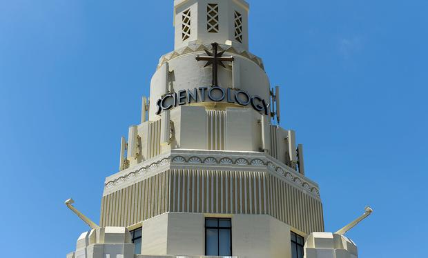 General view of the Church of Scientology community center in Los Angeles, California. Photo: Getty Images
