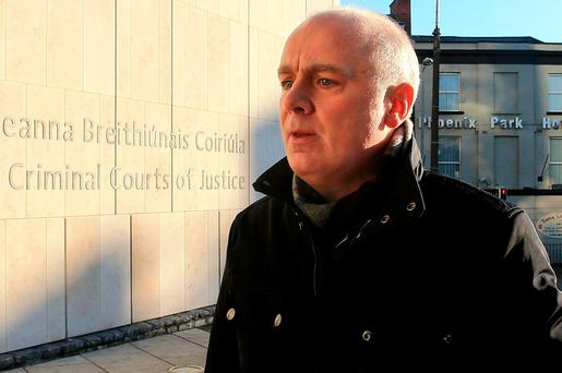 Former Anglo Irish Bank chief executive David Drumm pictured as he arrives at the Criminal Courts of Justice. Photo: Gerry Mooney