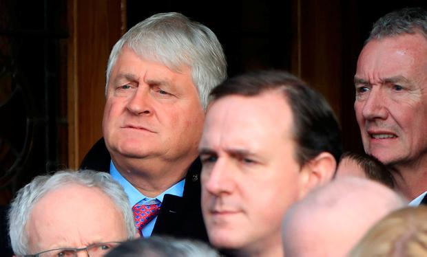 Businessman Denis O'Brien pictured this afternoon at the funeral of former Attorney General, Peter Sutherland at the Church of the Sacred Heart, Donnybrook. Photo: Colin Keegan, Collins Dublin.