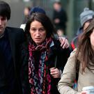 The family of the late Leo Carolan (from left), brother Alex, mother Catherine and sister Eva, leave the Central Criminal Court in Dublin where Charles Cleary was sentenced to life in prison for Leo's murder in 2016. Pic Collins    Courts.