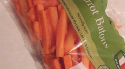 The pack of carrot batons bought by Yvonne Garvey on January 1.