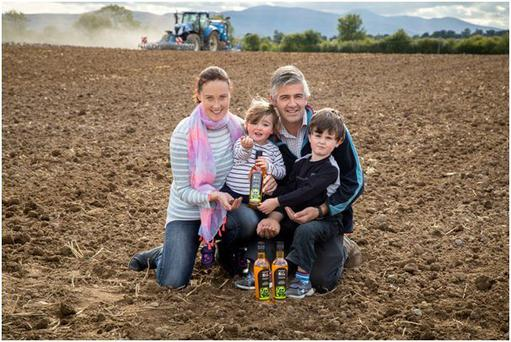 Michael Corbett with wife Sinead and children Ella (4) and Tim (6).