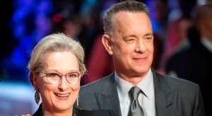 Meryl Streep and Tom Hanks attend 'The Post' European Premiere at Odeon Leicester Square on January 10, 2018 in London, England. (Photo by Samir Hussein/Samir Hussein/WireImage)