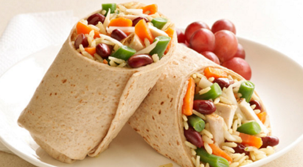 Uncle Chicken, Rice and Bean Wrap.png