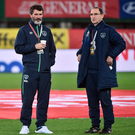 Ireland manager Martin O'Neill, right, with assistant manager Roy Keane