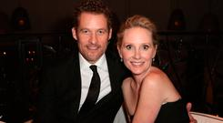 (L-R) Actor James Tupper and Actress Anne Heche attends Hallmark Hall of Fame's