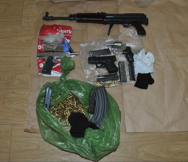 Assault Rifle, handguns and ammo seized