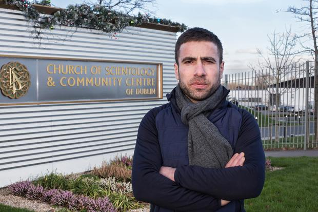 Zeni Bundo outside the Church of Scientology community centre in Firhouse, Dublin Photo: Mark Condren
