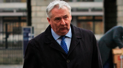 Noel Waters arrives at the Disclosures Tribunal at Dublin Castle Photo: Gareth Chaney