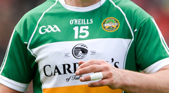 Offaly boss Stephen Wallace: 'We are three months into a three-year plan and the ambition is to try and get these guys up into Division 2'. Photo: Sportsfile