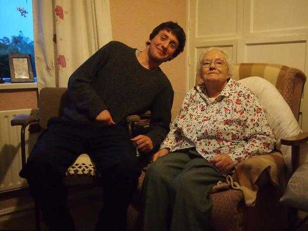 James Gavin with his granny Mena, from Fermanagh