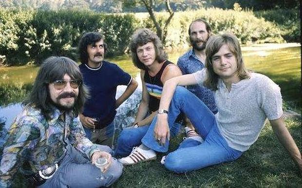 Blue brothers: The band's 1971 line-up (from left): Graeme Edge, Ray Thomas, John Lodge, Mike Pinder and Justin Hayward. Formed in 1964, the Moody Blues toured the world for more than 30 years. Photo: Chris Walter/WireImage