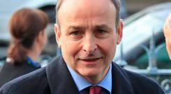 CAMPAIGN: Micheal Martin faces an angry backlash. Picture: Collins