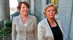 QUESTIONS, QUESTIONS: Former Garda Commissioner Noirin O'Sullivan and former Justice Minister Frances Fitzgerald