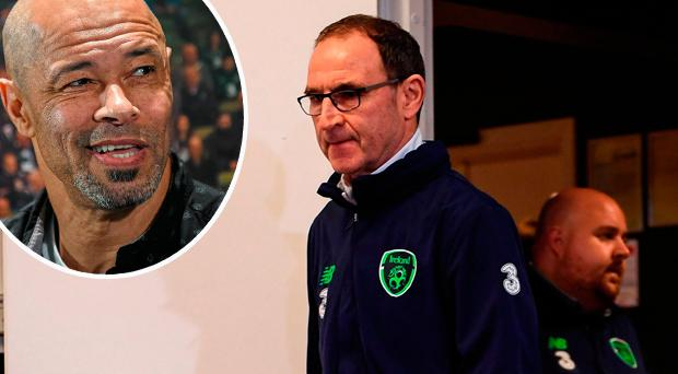 Martin O'Neill and (inset) Paul McGrath