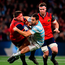 CJ Stander of Munster is tackled by Rémi Tales of Racing 92