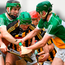 Conor Martin of Kilkenny in action against Thomas Spain, left, and Thomas Geraghty of Offaly