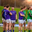 Players from both teams stand on the halfway line during the freekick shootout at the end of the Bord na Mona O'Byrne Cup semi-final match between Meath and Longford at Páirc Táilteann in Navan, Meath. Photo by Seb Daly/Sportsfile