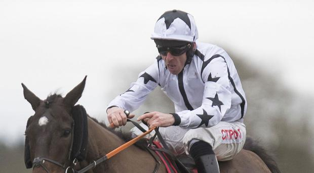 Doctor Phoenix, with Davy Russell up, on the way to victory at Fairyhouse. Photo: Patrick McCann/Racing Post
