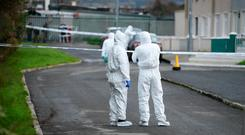 Forensic teams at the scene in Castleisland, Co Kerry