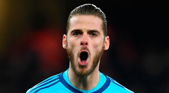 Manchester United goalkeeper David De Gea. Photo: Getty Images