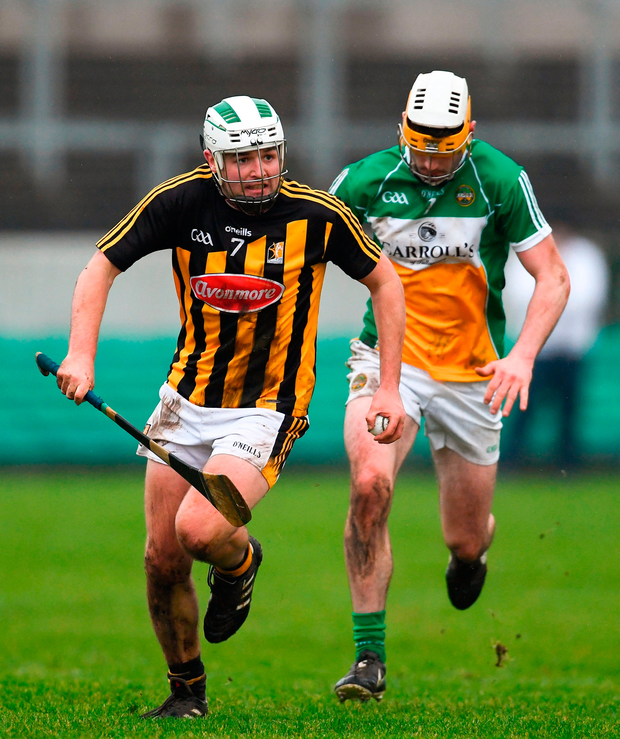 Padraig Walsh of Kilkenny in action against Jordan Quinn of Offaly. Photo: Sam Barnes/Sportsfile