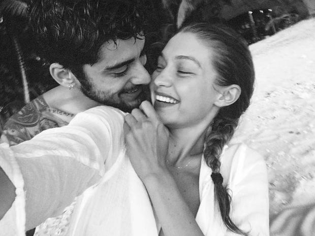 Zayn Malik and girlfriend Gigi Hadid. Picture: Instagram