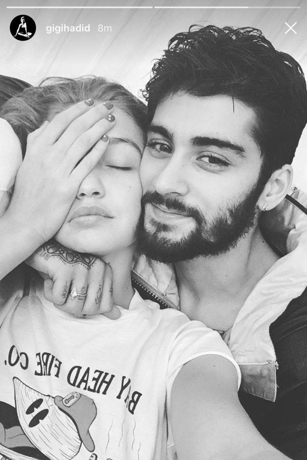 Gigi Hadid and boyfriend Zayn Malik. Picture: Instagram