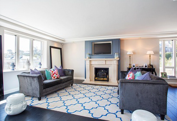 Helen Gallagher went for the Hamptons look in her coastal Dalkey home.