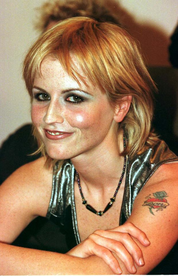 Dolores O'Riordan prior to an appearance on the Late Late Show in 1999 PICTURE COLIN KEEGAN, COLLINS, DUBLIN.