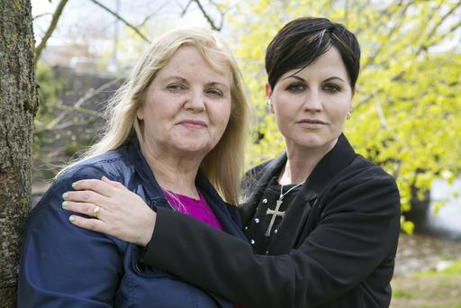 The Cranberries Dolores O'Riordan with her Mum Eileen in Bruff Co Limerick .